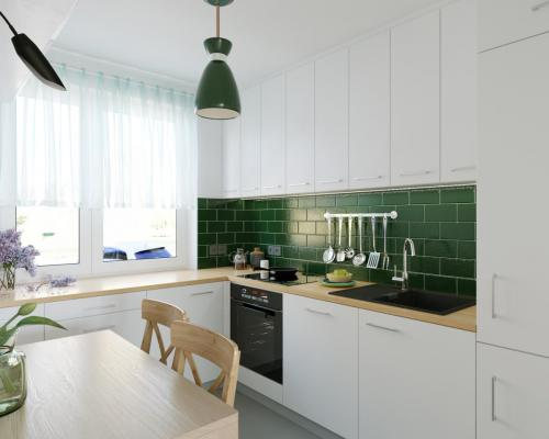 Small kitchen, flat in a block of flats - 2019